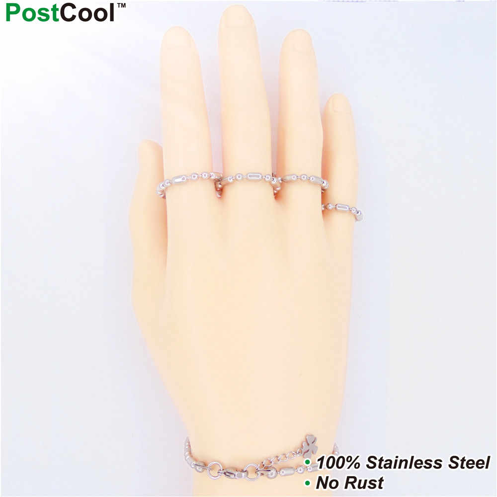 3MM Width Bamboo Stlye Stainless Steel Chain/Chain Necklaces 40/45/50/55/60/65CM Long/Wrist Chains 18/20/22CM Long/ FingerChains