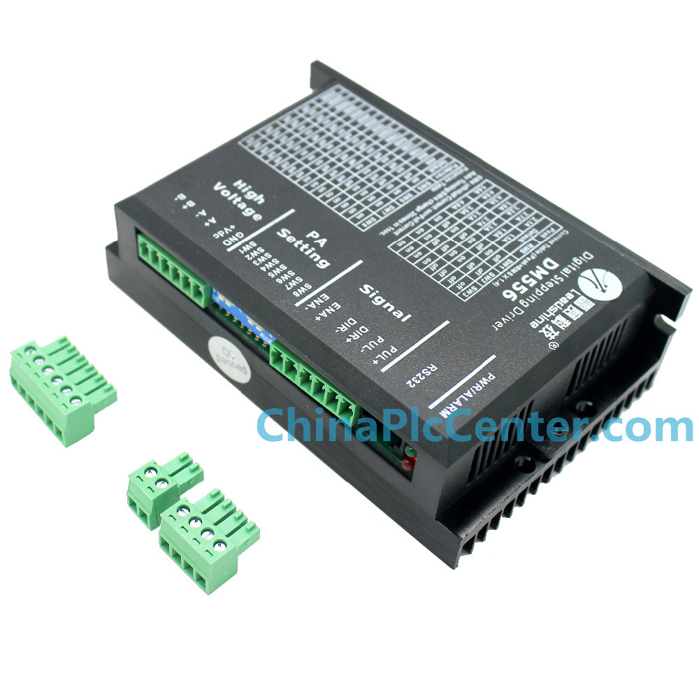 цена на LeadShine DM556 2/4 Phase Digital Stepper Motor Driver, 20-50VDC 0.5-5.6A