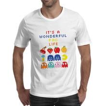 It Is A Wonderful Pacman Life T Shirt Classic FC Console Game Brand Novelty Print T-shirt Design Hip Hop Creative Unisex Tee