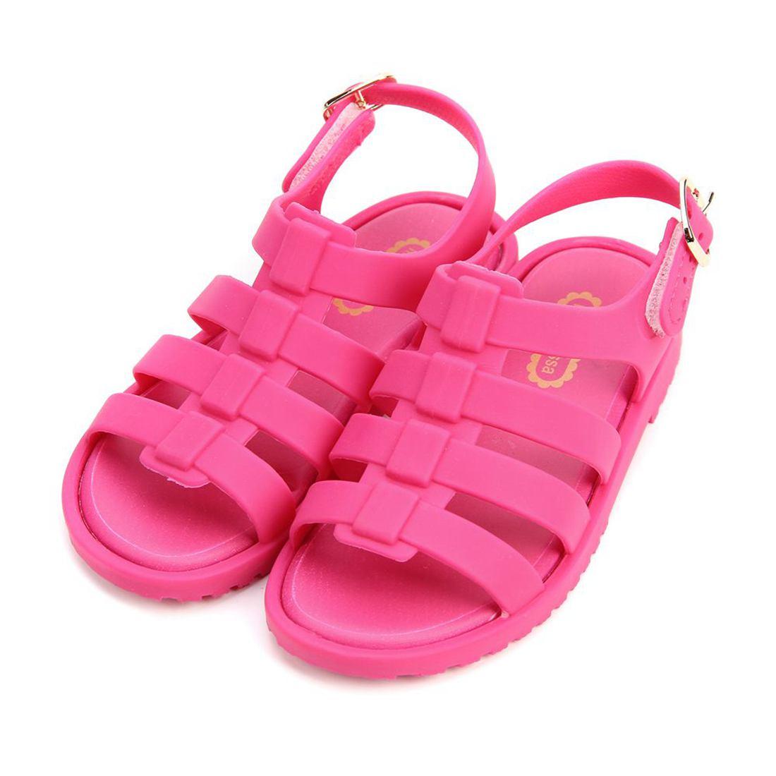 Mini Melisse 2017 Sommer Neue Römische Schuhe Mädchen Sandalen Flox Kinder Jelly Soft Einlegesohle PVC Schuh Flach auf Weiche boden Rutschfeste