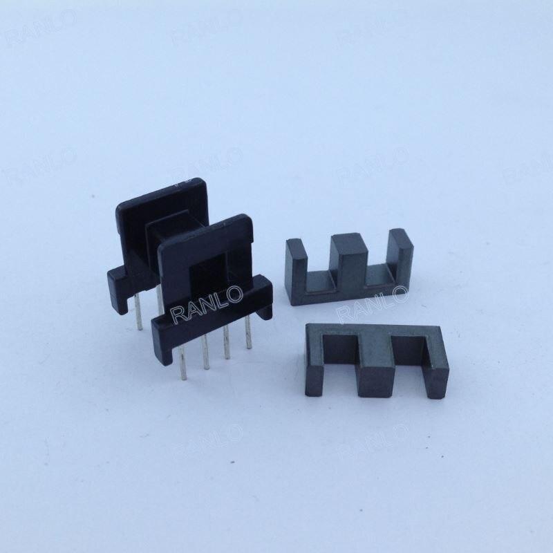 20setslot EE16 horzontal bobbin + magnet ferrite core PC40, 8Pin (4+4)