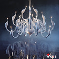 2016 Art Deco  European Candle Crystal LED Swan Chandeliers Ceiling Bedroom Living Room Modern Decoration G4  Lustres Lighting