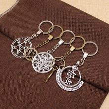 WYSIWYG Mix Star Of David Key Chain For Diy Handmade Gifts Keychain Jewelry Pendant