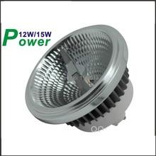 Затемнения светодиодный AR111 лампа, 12 Вт, 15 Вт, G53 GU10 светодиодный AR111 ES111 Светодиодный прожектор AC85-265V
