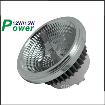 Dimmable LED AR111 lamp 12w 15w G53 GU10 led AR111  ES111 LED spotlight AC85-265V Free shipping newest led ar111 lamp 12w 15w g53 gu10 led ar111 light es111 led spotlight ac85 265v free shipping