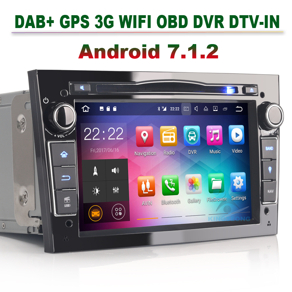 android 7 1 2 car dvd player gps navi dab autoradio for. Black Bedroom Furniture Sets. Home Design Ideas