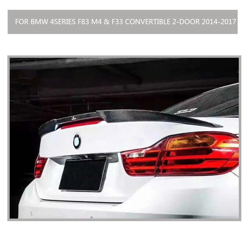 Carbon Fiber Car Rear Lip Wing Spoiler for BMW 4 Series F83 M4 F33 428i 430i