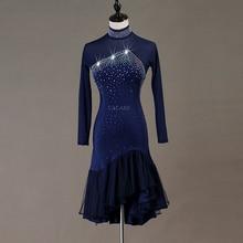 Salsa-Costumes Ballroom Dress Competition-Dresses Latin Tango Women 3-Choices Fringed
