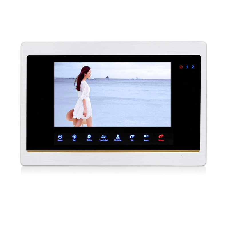 Free Shipping 720P HD 7 LCD Screen Record Monitor Touch Sensor Button PIR Alarm Record Set Unlock Time for Video Door Phone