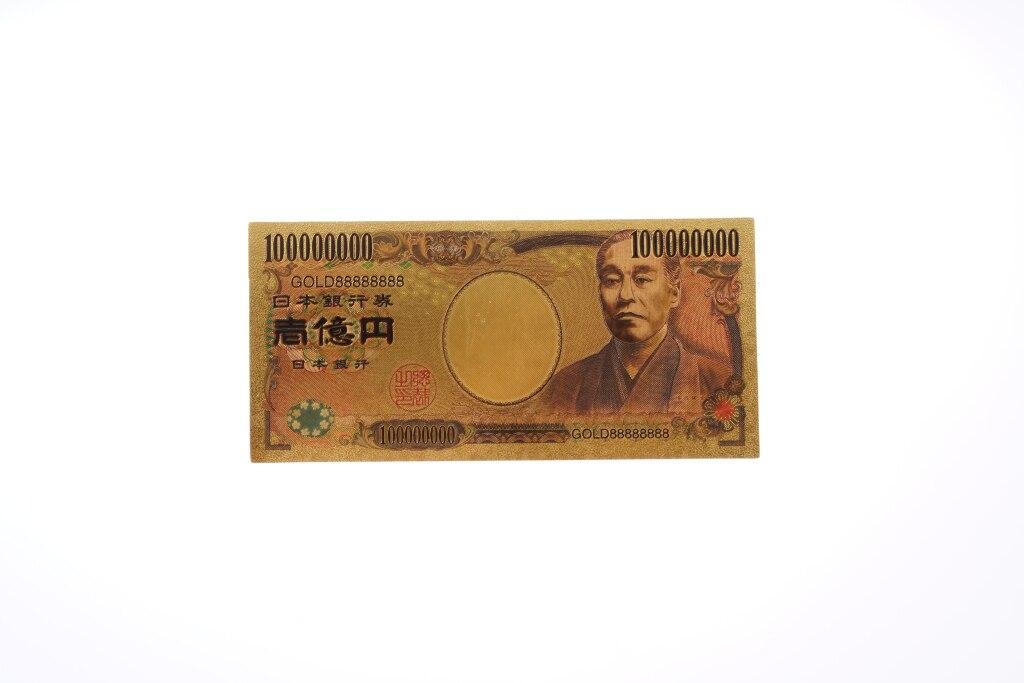 Gold Banknote 1000 Million Yen Japan Bill Note Paper Money for Best Souvenirs