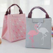 Urijk Flamingo Thermal font b Bag b font Black Waterproof Oxford font b Lunch b font