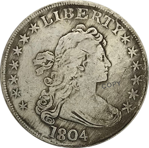 1804 United States 1 One Dollar Liberty Draped Bust Cupronickel Plated Silver Collectibles Copy Coin(China)