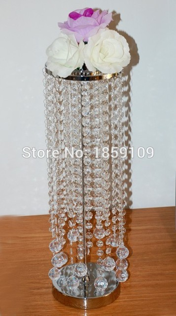 Acrylic Crystal Wedding Centerpiece Table 22 Tall 2 Tier