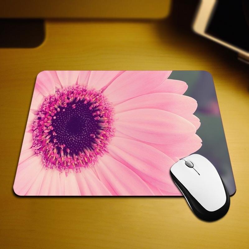 MaiYaCa Pink Petals Mouse Mats Computer Laptop Notbook 18*22