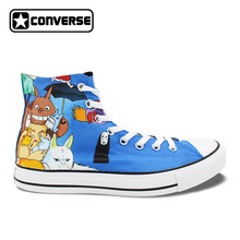 Anime Converse All Star Women Men Shoes Miyazaki Hayao Mangas Totoro Princess Mononoke Design Hand Painted