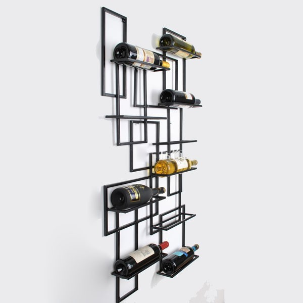Creative Home Fashion Wrought Iron Wine Rack Wall Mounted Wine Rack