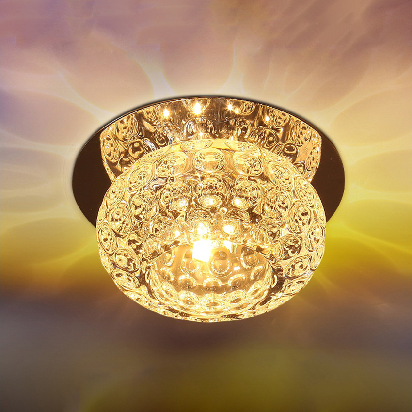 Modern Simple Crystal Ceiling Lamp Bedroom Living Room Decorative Lighting Ceiling Light 3W 5W LED AC110V Crystal Ceiling Lights | Crystal Flush Mount Light | Modern Simple Crystal Ceiling Lamp Bedroom Living Room Decorative Lighting Ceiling Light 3W 5W LED AC110V 220V BL95