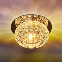 Simples e moderno quarto lâmpada do teto de cristal sala estar iluminação decorativa luz teto 3 w 5 led ac110v 220 v bl95|ceiling lights|crystal ceiling lamp|ceiling lamp -