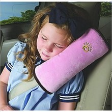 High Quality Children Car Soft Headrest Baby Vehicle Safety Seat Belt Pillows Strap Soft Shoulder Pad Cushion Neck Seatbelt(China)