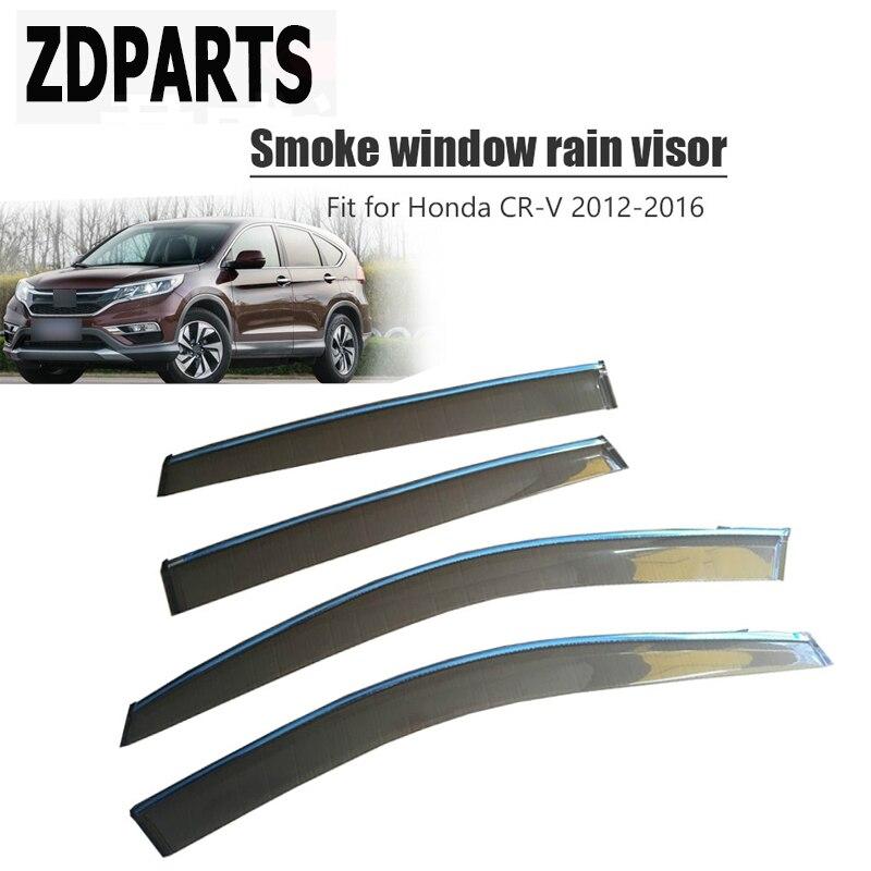 ZDPARTS 4pcs Car Wind Deflector Sun Guard Rain Wind Vent Visor Cover Trim For Honda CR V Honda CRV 2012 2013 2014 2015 2016 ABS|Awnings & Shelters| |  - title=