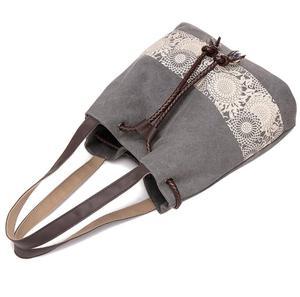 Image 5 - Borsa a tracolla da donna la nuova borsa di tela in stile nazionale e la borsa stampata retrò sono indossate dal dipartimento femminile Sen