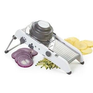 Image 2 - Lekochタマネギおろしshredderグラインダー調整可能なフルーツ野菜カッターポテトスライサーキッチンツールアクセサリーガジェットチョッパー