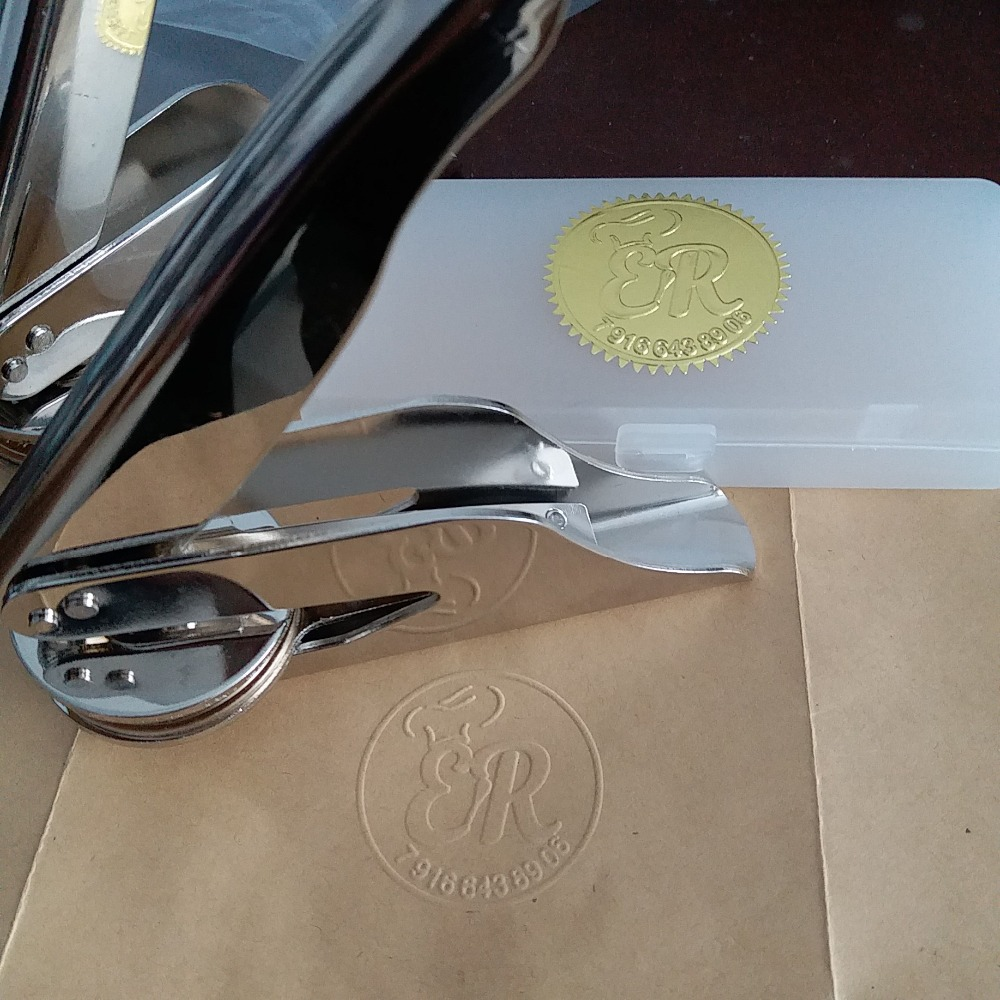 Hot Customize Embossing Stamp With Your Logo,Personalized Embossing Seal For Letterhead Setting/Wedding Envelope Gaufrage Stamp