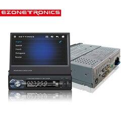 Rádio do carro estéreo universal 7 polegada escorregar para baixo tela de toque 1din estéreo do carro fm apenas bluetooth mp3 mp4 mp5 música player de áudio 9601