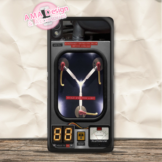 Flux Capacitor Back To The Future Case For Xperia Z5 Z4 Z3 compact Z2 Z1 Z E4 T3 T2 SP M4 M2 C3 C ...