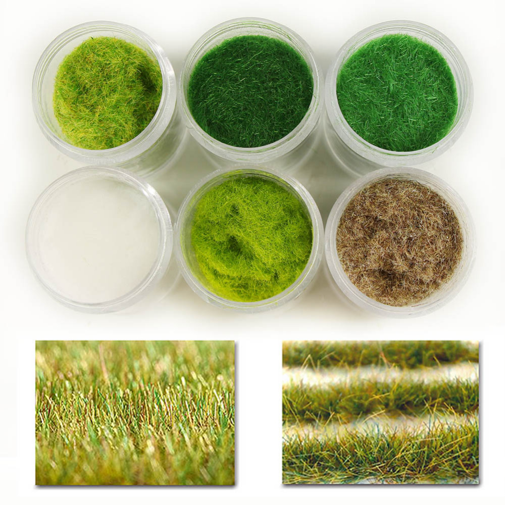 Grass-Powder Flock Model Building-Material CFA5 120g 3mm Six-Colors Adhesive Mixed Nylon