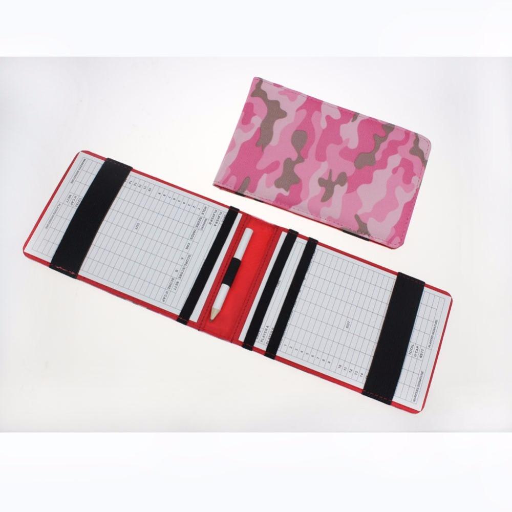 CRESTGOLF New Golf Scorecard Holder Golf Score Wallet Camouflage Golf Score Pocketbook Scoring Golf Gifts Accessories