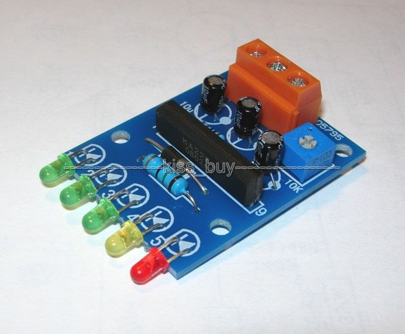 5 LED VU Meter Driver Module Audio Level Indicator / Power Meter Board Level Indicating 5-12V Dc