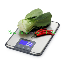 New Arrivals!!! Maximum Capacity 15KGx1G Slim Stainless Steel Digital Kitchen Scale Food Diet Weight Scales Free Shipping