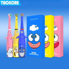 Tackore Electric Toothbrush for Children Kids Electric Toothbrush with 2 Replaceable Heads Dental Care Cartoon SpongeBob cartoon цена и фото