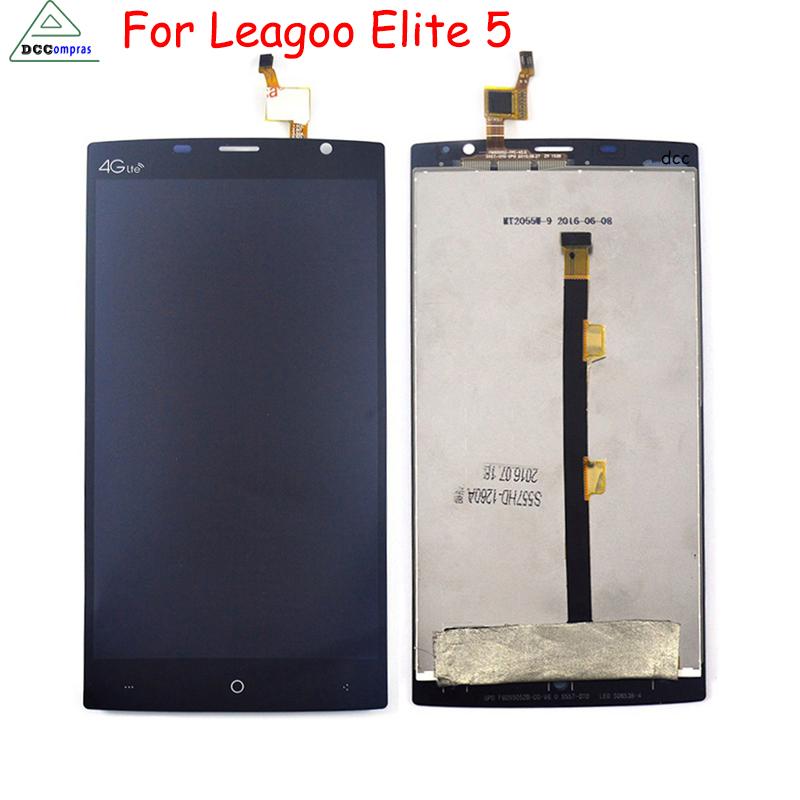 Prix pour 100% D'origine Pour LEAGOO Elite 5 LCD Affichage à L'écran Tactile Digitizer Assemblée Remplacement Outils Gratuits noir et blanc