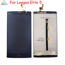 100% Первоначально Для LEAGOO Elite 5 ЖК-Дисплей С Сенсорным Экраном Замена Digitizer Ассамблея Бесплатные Инструменты черный и белый