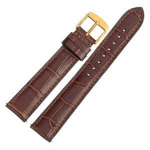 Image 3 - WOCCI Bracelet montre en cuir véritable, 18mm 20mm 22mm, Bracelet de montre, accessoires pour montre intelligente, élégant, hommes femmes