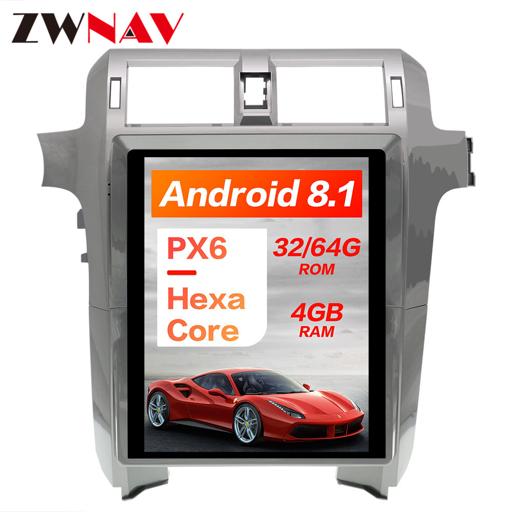 PX6 4GB RAM Tesla style Android 8 1 Car GPS Navigation For Lexus GX400 GX460 head