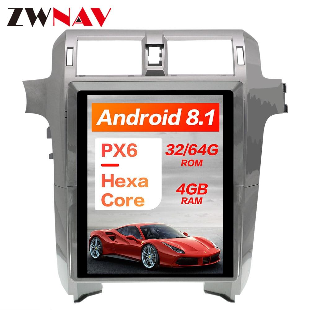 PX6 4GB RAM Tesla style Android 8 1 Car GPS Navigation For Lexus GX400 GX460 head