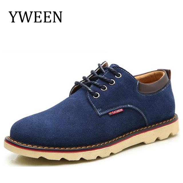Spring Autumn Man Casual Shoes Fashion Trend Rubber Flat Lace-up Style Suede Men Shoes Large size Hot Sale