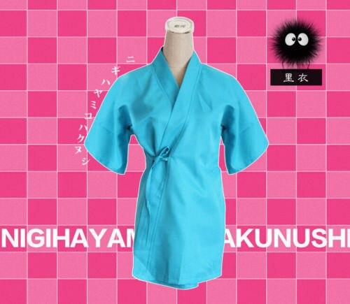 NEW Anime Miyazaki Hayao Spirited Away Haku cosplay costume Custom New Size