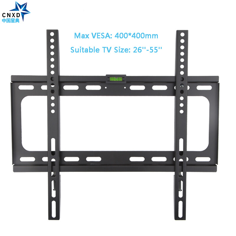 CNXD Fixed TV Wall Mount TV Bracket for Most 26-55 Inch LED LCD and Plasma TV up to VESA 400x400mm and 110lbs Loading Capacity neewer® white pink lace protector tv cover for 37 inch led lcd plasma tv unfolded 95x12x70cm