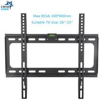 CNXD фиксированной ТВ настенное крепление для ТВ кронштейн для большинства 26-55 дюймов светодиодный ЖК-дисплей и плазменных ТВ до VESA 400×400 мм и 110lbs загрузки Ёмкость