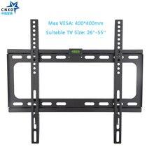 CNXD sabit TV duvar montaj TV dirseği en 26 55 inç LED LCD ve plazma TV kadar VESA 400x400mm ve 110lbs yükleme kapasitesi