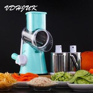 Image 2 - Multifunctional Manual Vegetable Spiral Slicer Chopper  Slicer Grater Vegetable Cutter Kitchen Tools
