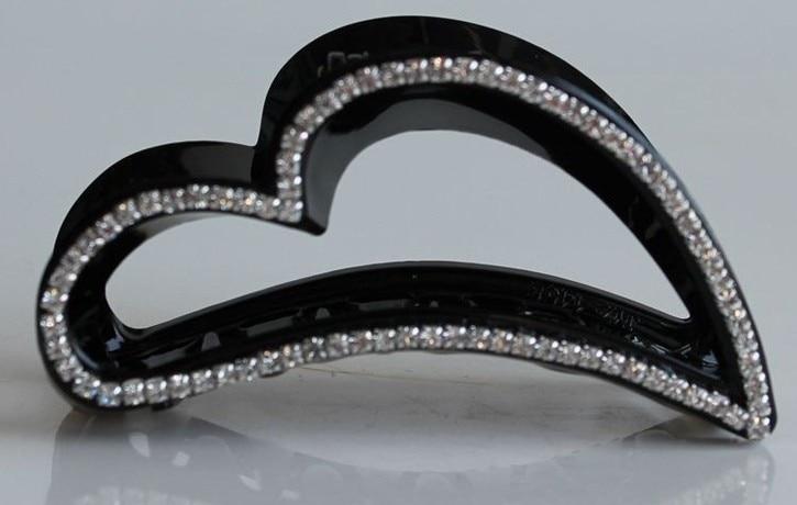FREE SHIPPING  2015New acrylic heart hair claw  hair caught  women hair accessories hair styling headwear
