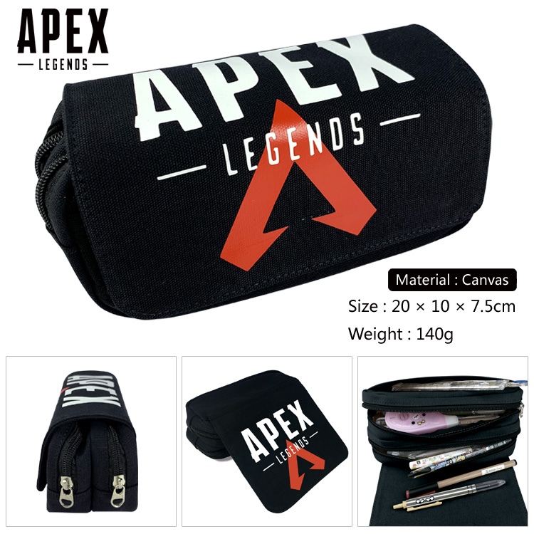 Hot Game Apex Legends Pencil Box Multifunction Storage Bag Kids Canvas Pen Bag Gift Women Zopper Makeup Bag
