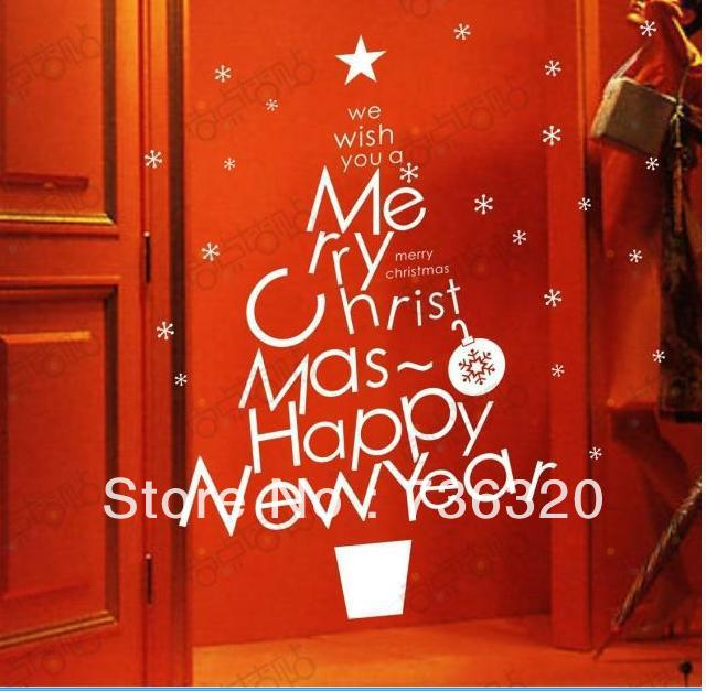 Wholesale Wall Decor Wall Stickers PVC stickers Christmas ...