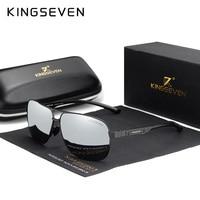 KINGSEVEN женские мужские солнцезащитные очки поляризованные зеркальные линзы винтажные очки для вождения солнцезащитные очки Алюминиевый те...