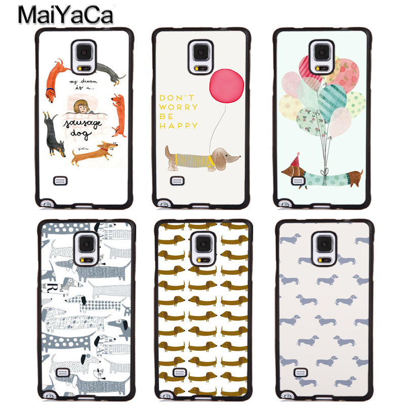 MaiYaCa Dachshund Dog Style Soft Rubber Phone Cases For Samsung Galaxy S5 S6 S7 edge plus S8 S9 plus Note 4 5 8 Back Coque Cover